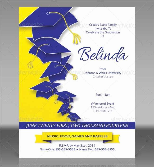 College Graduation Invitation Template Lovely 18 New College Graduation Invitation Templates