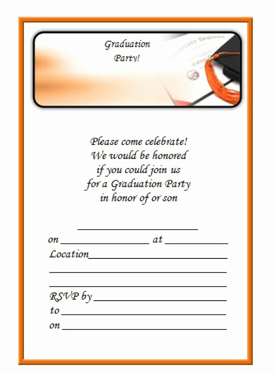 College Graduation Invitation Template Lovely 40 Free Graduation Invitation Templates Template Lab