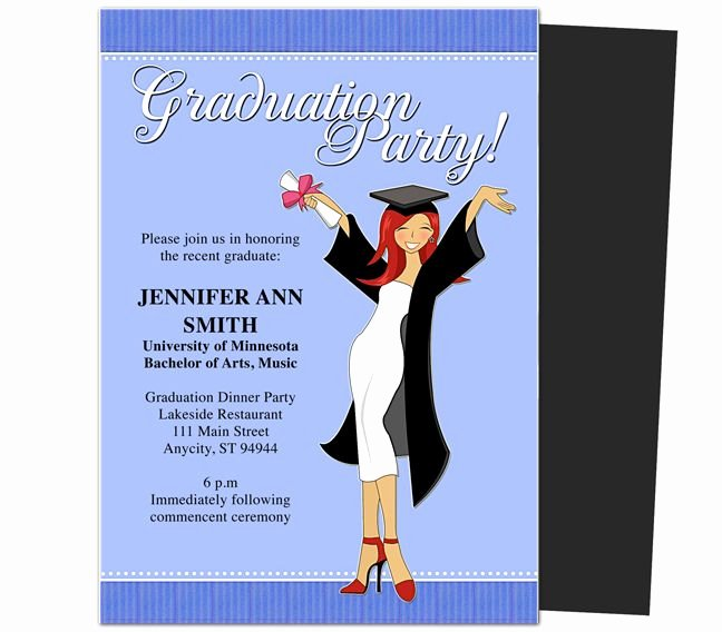 College Graduation Invitation Template Lovely Graduation Party Invitations Templates Mencement