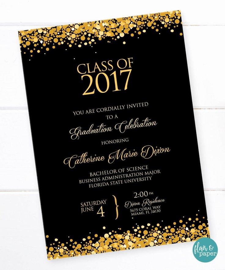College Graduation Invitation Template Luxury 25 Best Ideas About High School Graduation Invitations On