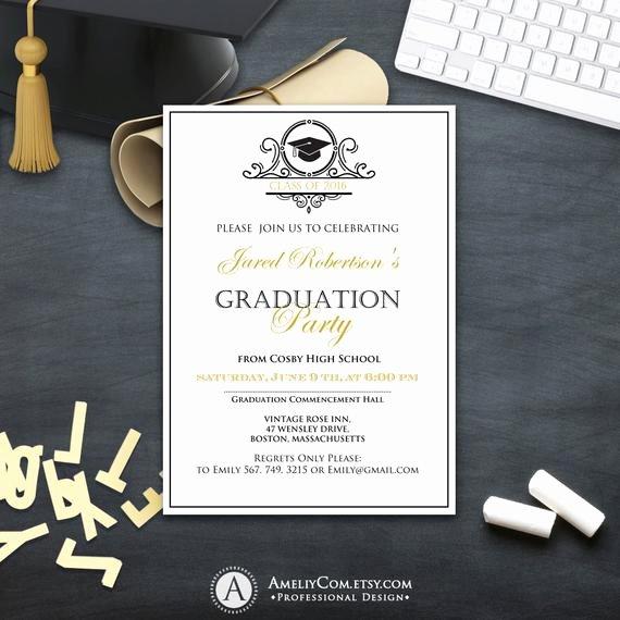 College Graduation Invitation Template Luxury Graduation Invitation College Printable Template Boy Girl