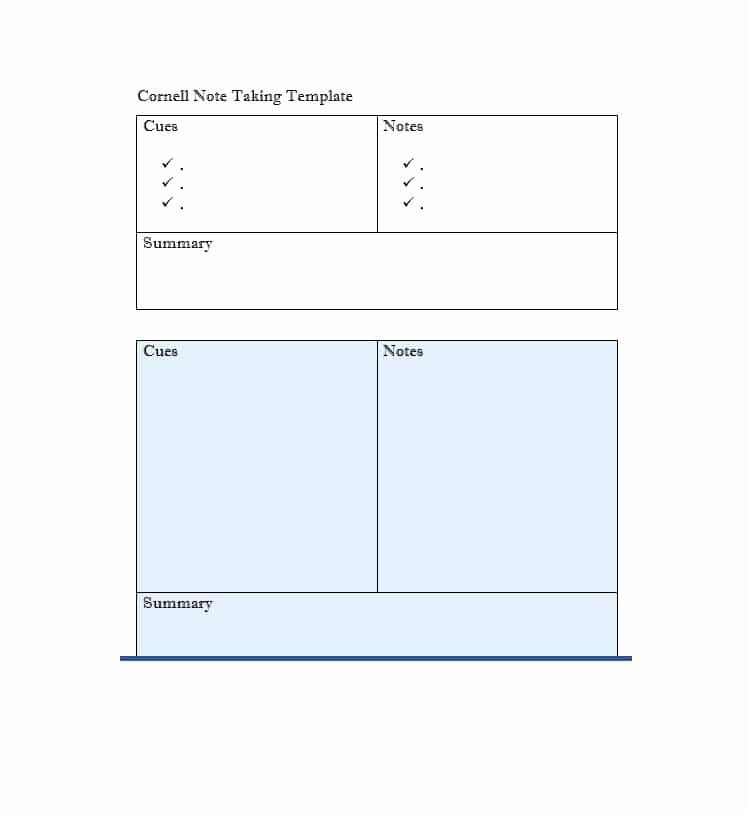 College Note Taking Template Awesome 36 Cornell Notes Templates & Examples [word Pdf]