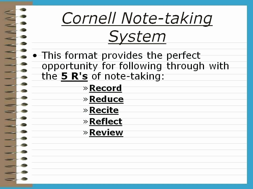 College Note Taking Template Fresh College Note Taking Template Fresh Math Inspirational
