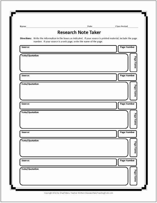 College Note Taking Template Inspirational Free Graphic organizers for Studying and Analyzing