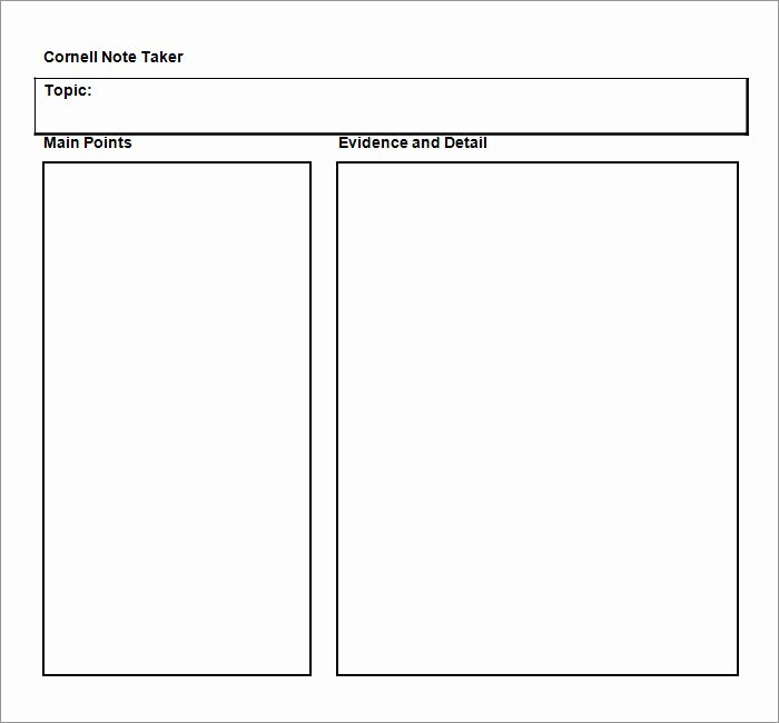 College Note Taking Template Lovely Cornell Notes Template 51 Free Word Pdf format