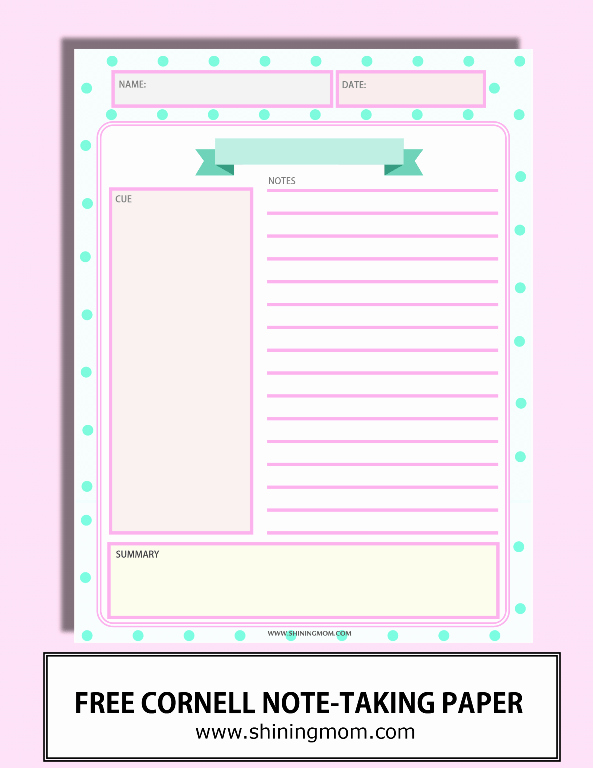 College Note Taking Template New Happy Freebie Monday Note Taking Sheets
