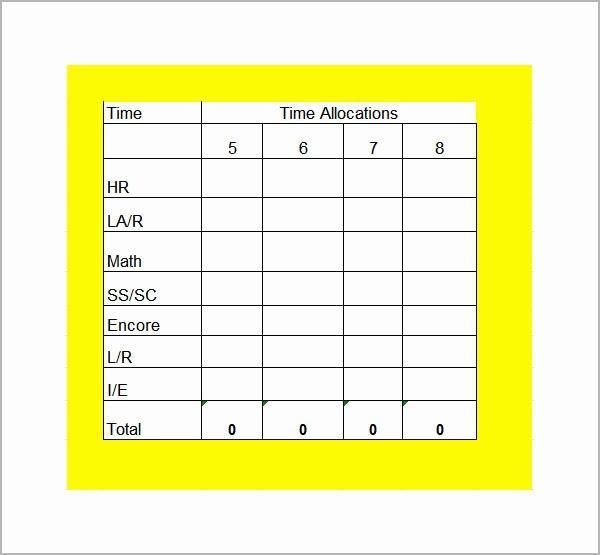 College School Schedule Template Inspirational College Class Schedule Template