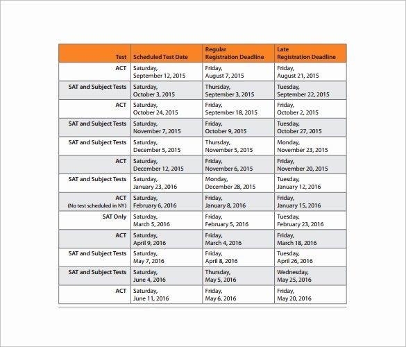 College School Schedule Template New 8 College Schedule Samples