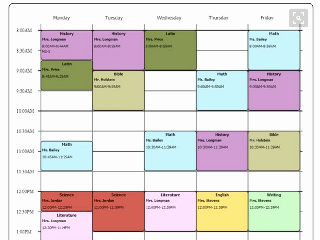 College School Schedule Template Unique Cute Class Schedule Maker
