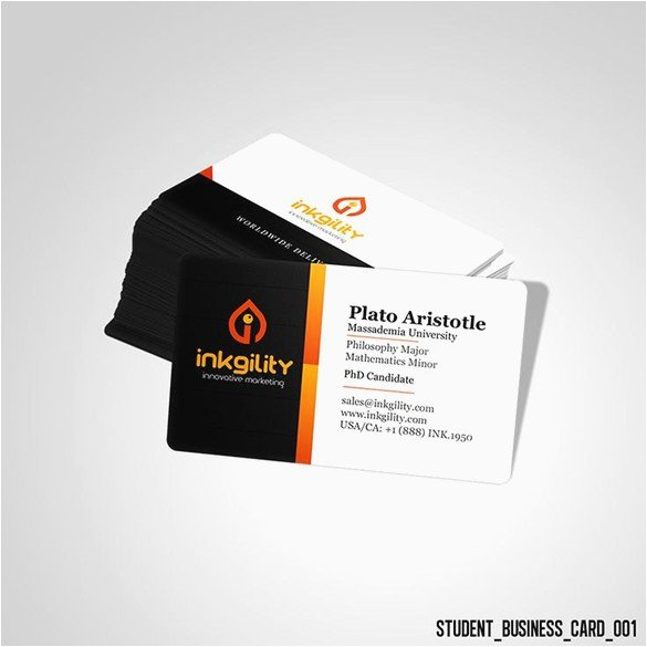 College Student Business Card Template Awesome 100 Phd Business Card Phd Student Business Card Elegant