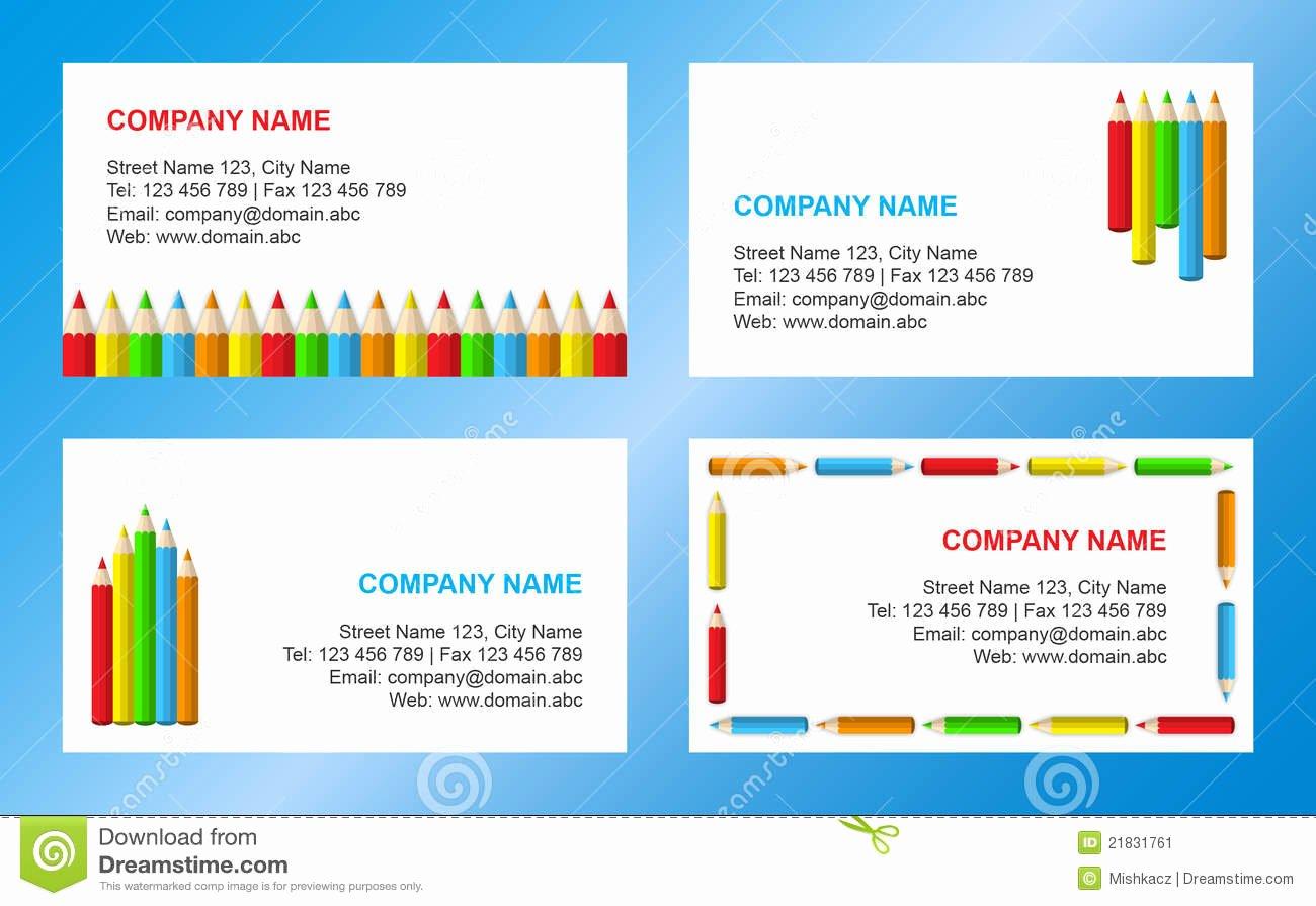 College Student Business Card Template Awesome Abbozza Il Modello Del Biglietto Da Visita Illustrazione