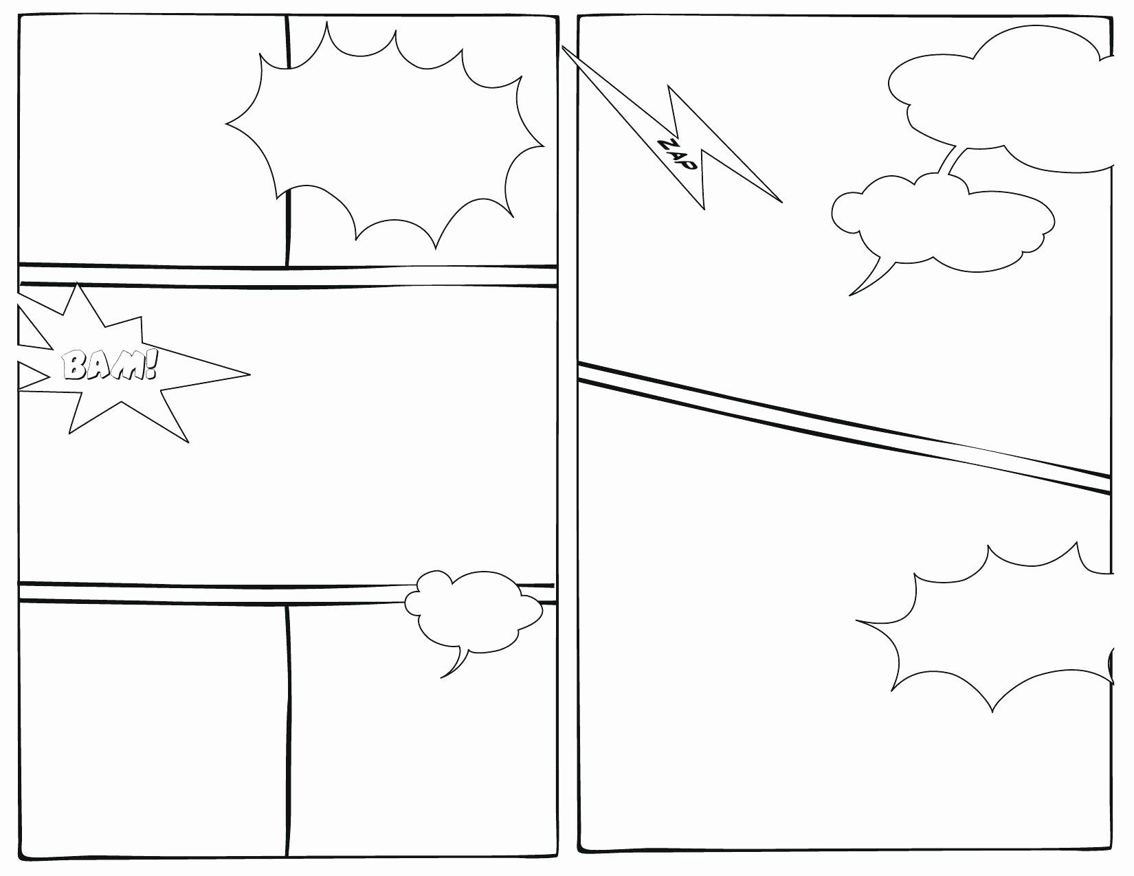 Comic Strip Template Word Awesome Printable Printable Blank Ic Template