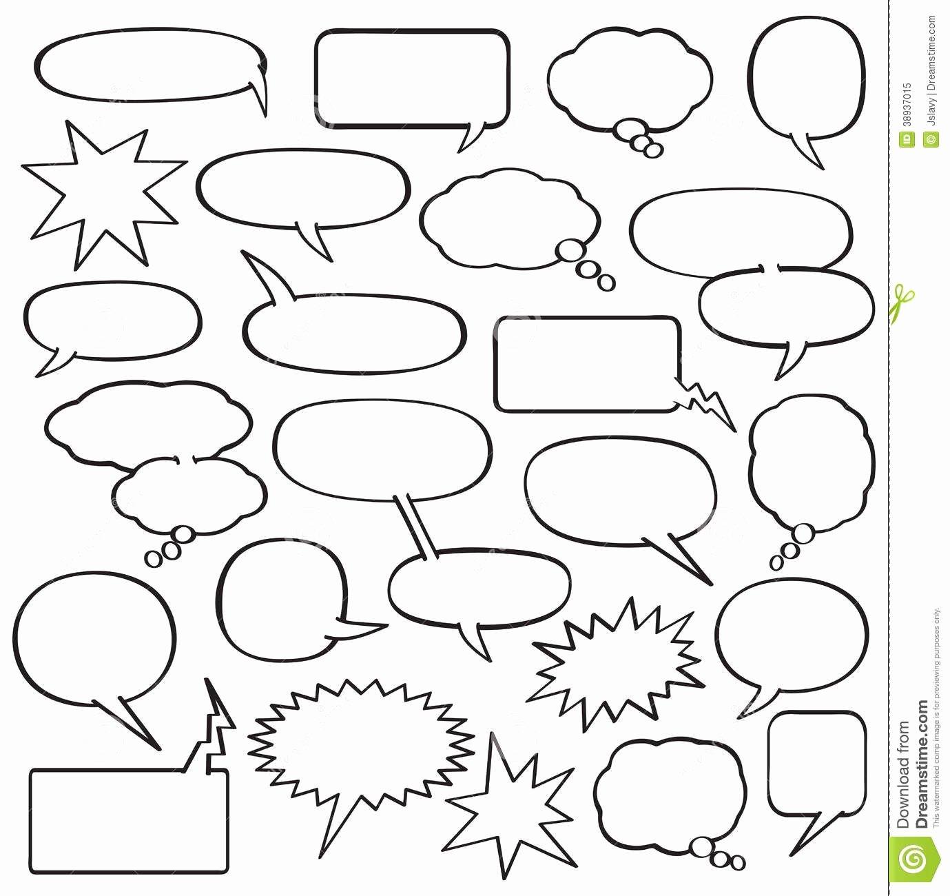 Comic Strip Template Word Beautiful Blank Ic Strip Speech Bubbles Template School