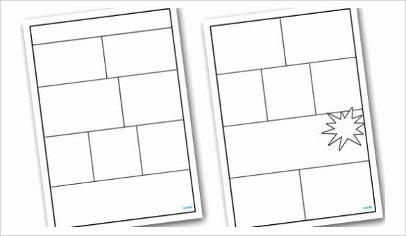 Comic Strip Template Word Beautiful Blank Ic Strip Template Printable Templates Collections