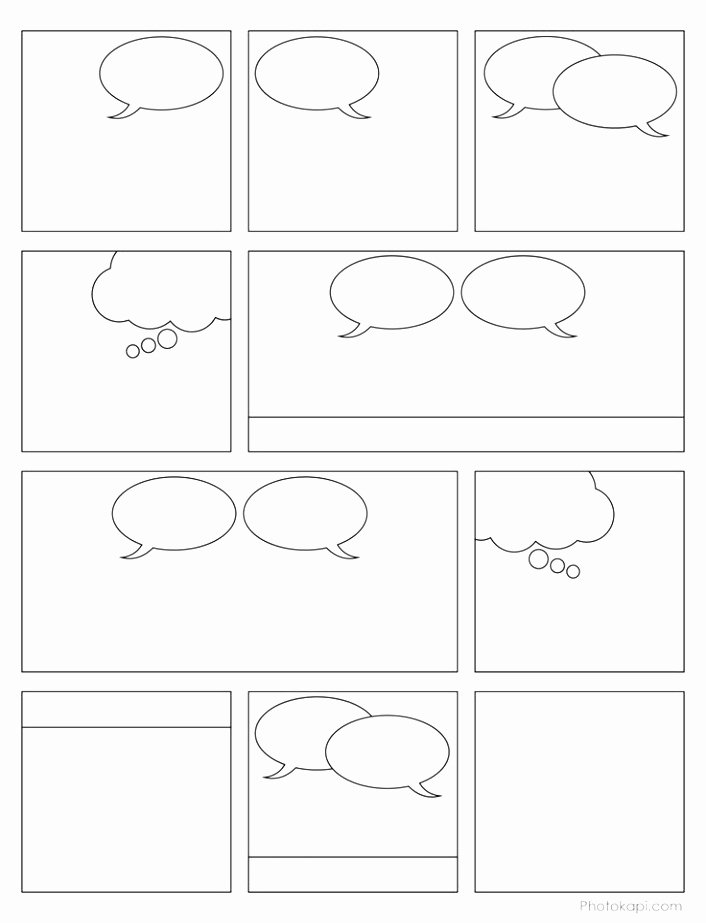 Comic Strip Template Word Elegant 9 Printable Blank Ic Strip Template for Kids Iowui