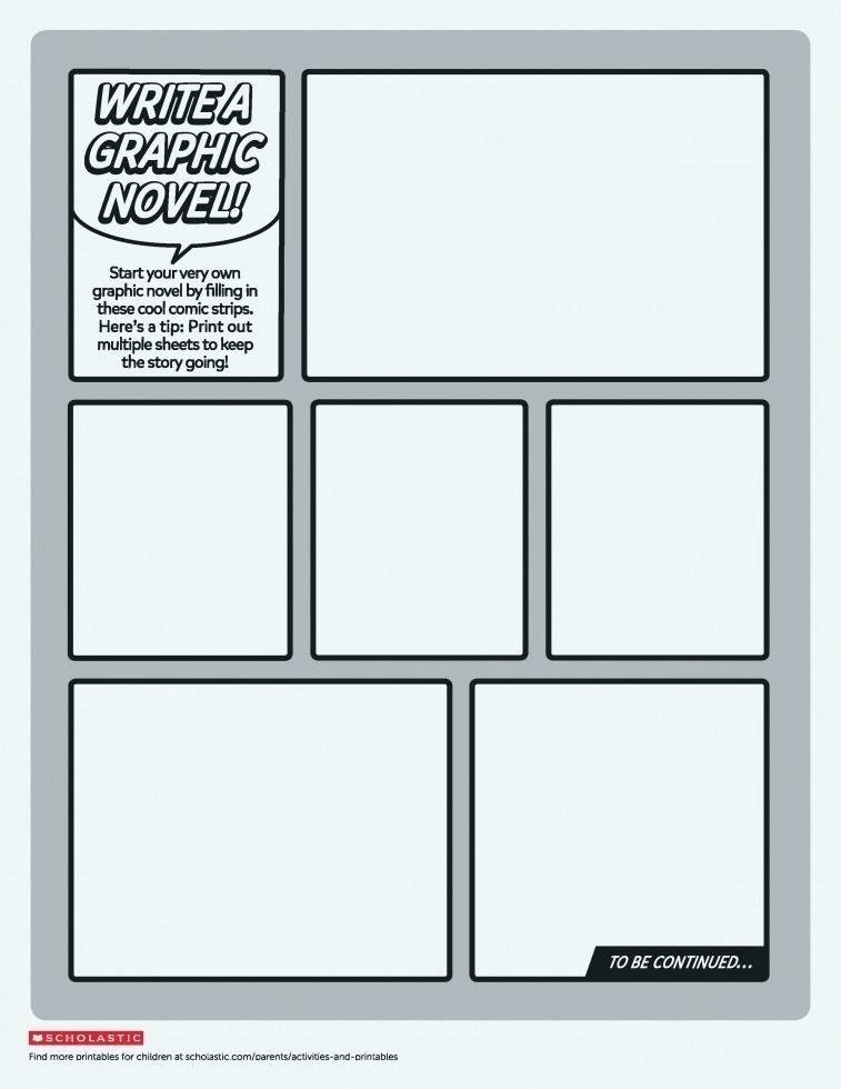 Comic Strip Template Word Fresh Ic Strip Storyboard Template Story New Blank Editable