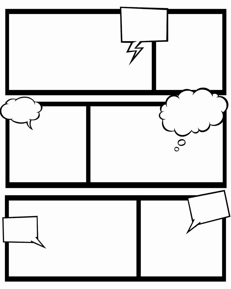 Comic Strip Template Word New 7 Best Of Ic Strip Bubbles Printable Ic