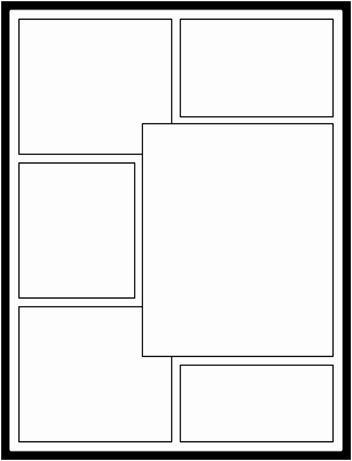 Comic Strip Template Word Unique 9 Printable Blank Ic Strip Template for Kids Iowui