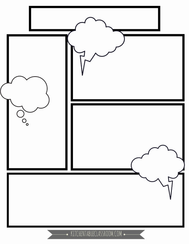 Comic Strip Template Word Unique Ic Book Templates In Homeschool Writing the Kitchen