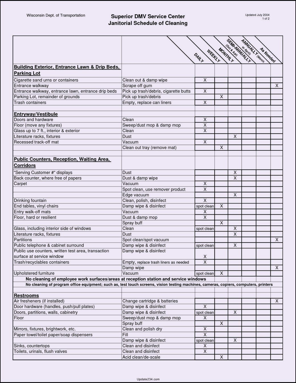 Commercial Cleaning Checklist Template Best Of Mercial Cleaning Checklist Template Template