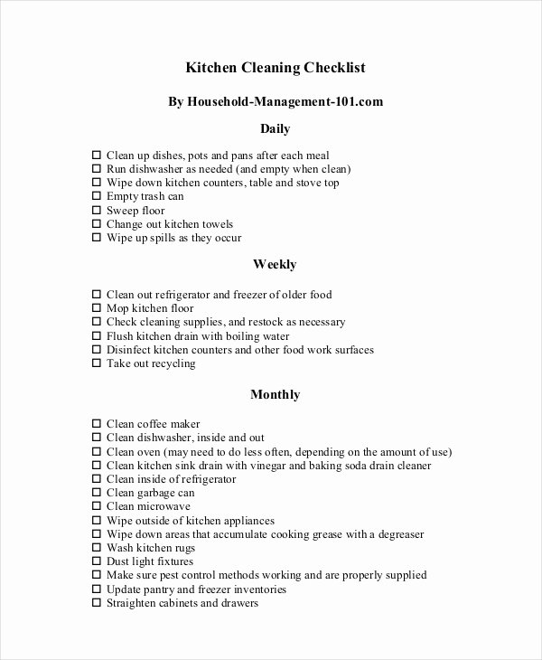 Commercial Cleaning Checklist Template Luxury Cleaning Checklist 31 Word Pdf Psd Documents Download