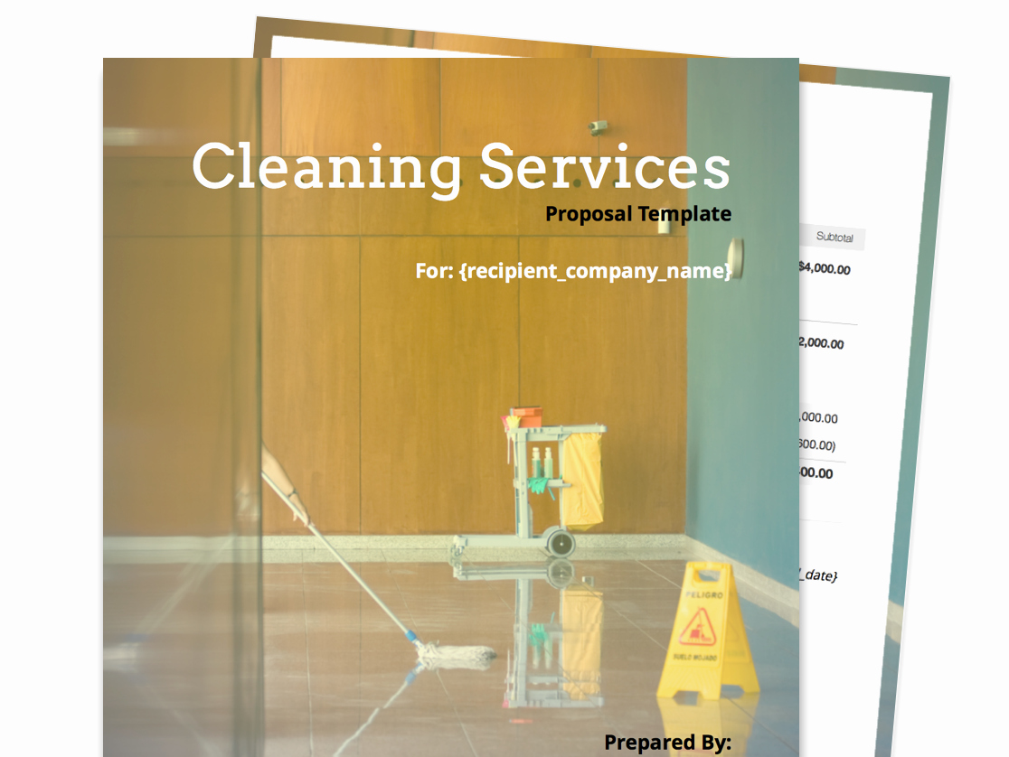 Commercial Cleaning Proposal Template Free Beautiful Free Business Proposal Templates