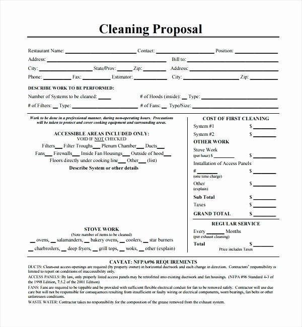 Commercial Cleaning Proposal Template Free Fresh Cleaning Tender Template Carpet Cleaning Proposal Template
