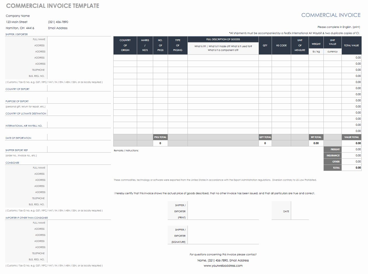 free invoice templates blank