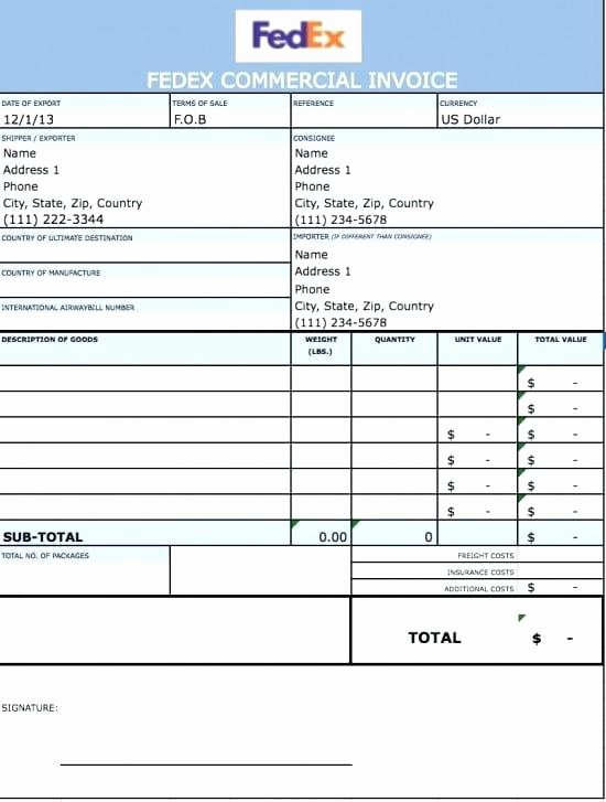 Commercial Invoice Template Excel Elegant Excel Template for Invoice – Imagemakerub