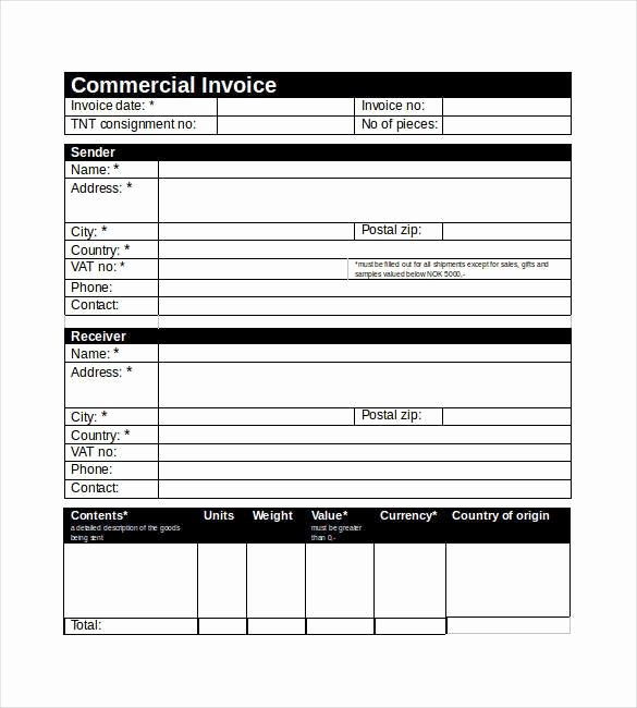 Commercial Invoice Template Excel Lovely 30 Mercial Invoice Templates Word Excel Pdf Ai