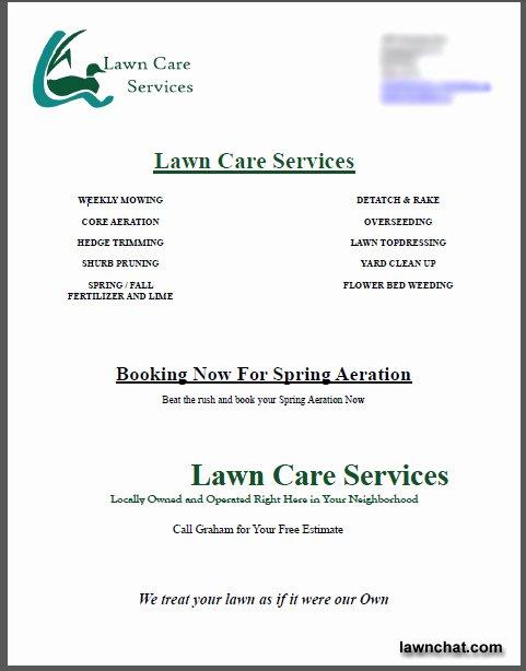 Commercial Lawn Care Bid Template Fresh Lawn Care Bid Templates