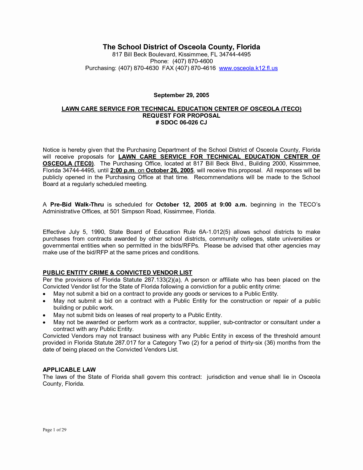 Commercial Lawn Care Bid Template New Bid Proposal Letter Mughals