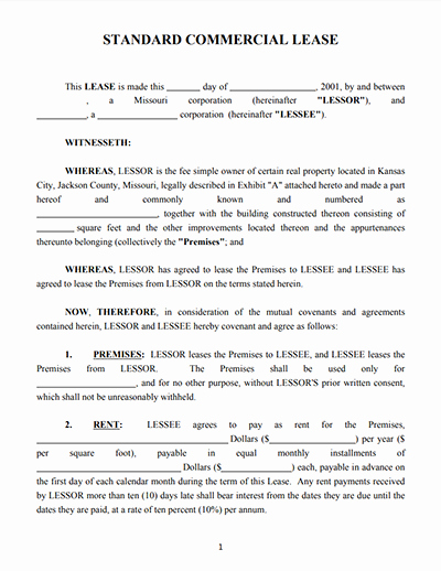 Commercial Lease Agreement Template Free Awesome top 4 Free Mercial Lease Agreement Templates and Tips
