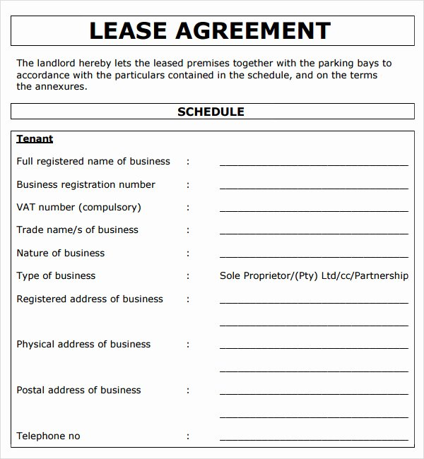 Commercial Lease Agreement Template Free Elegant 13 Mercial Lease Agreement Templates Excel Pdf formats