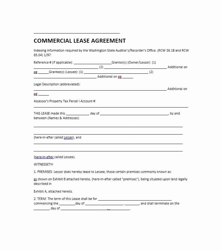 Commercial Lease Agreement Template Free Elegant 26 Free Mercial Lease Agreement Templates Template Lab