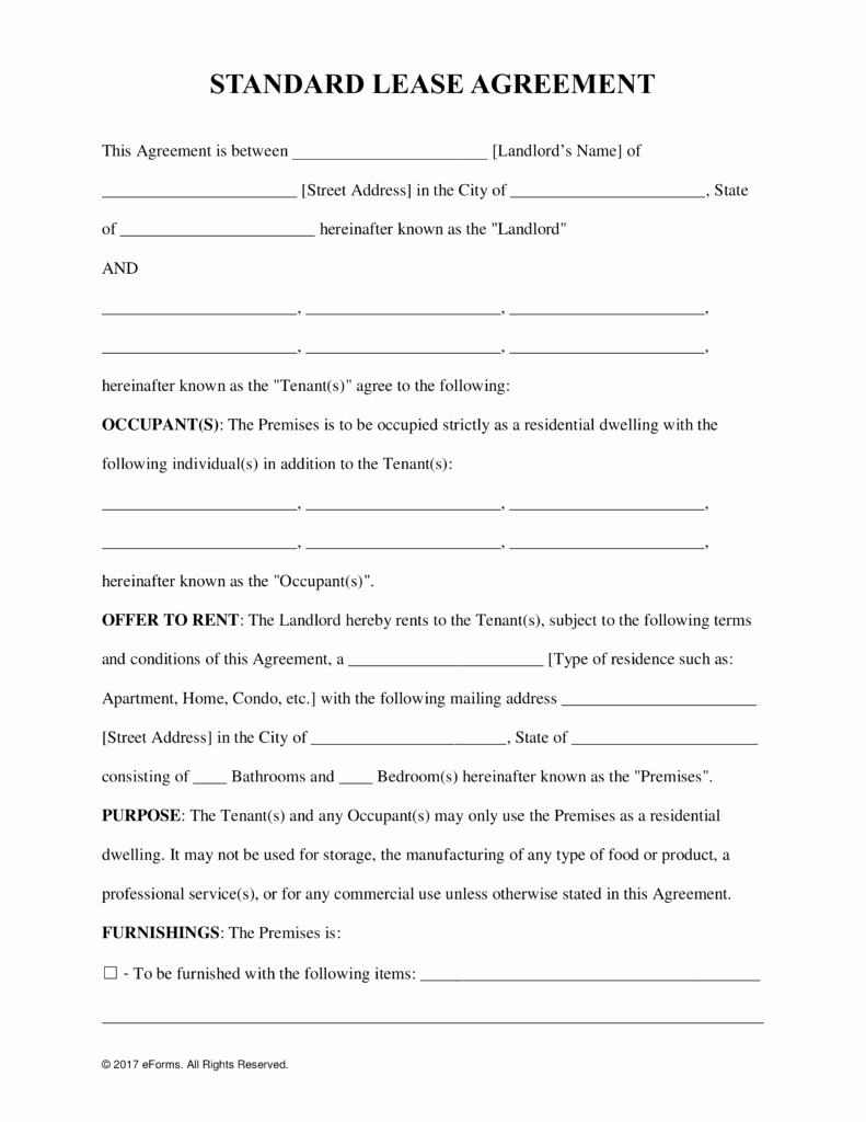 Commercial Lease Agreement Template Free Luxury Free Rental Lease Agreement Templates Residential