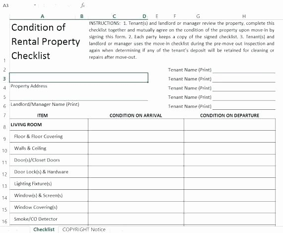 Commercial Property Inspection Checklist Template Awesome Rental House Inspection Checklist Property Template