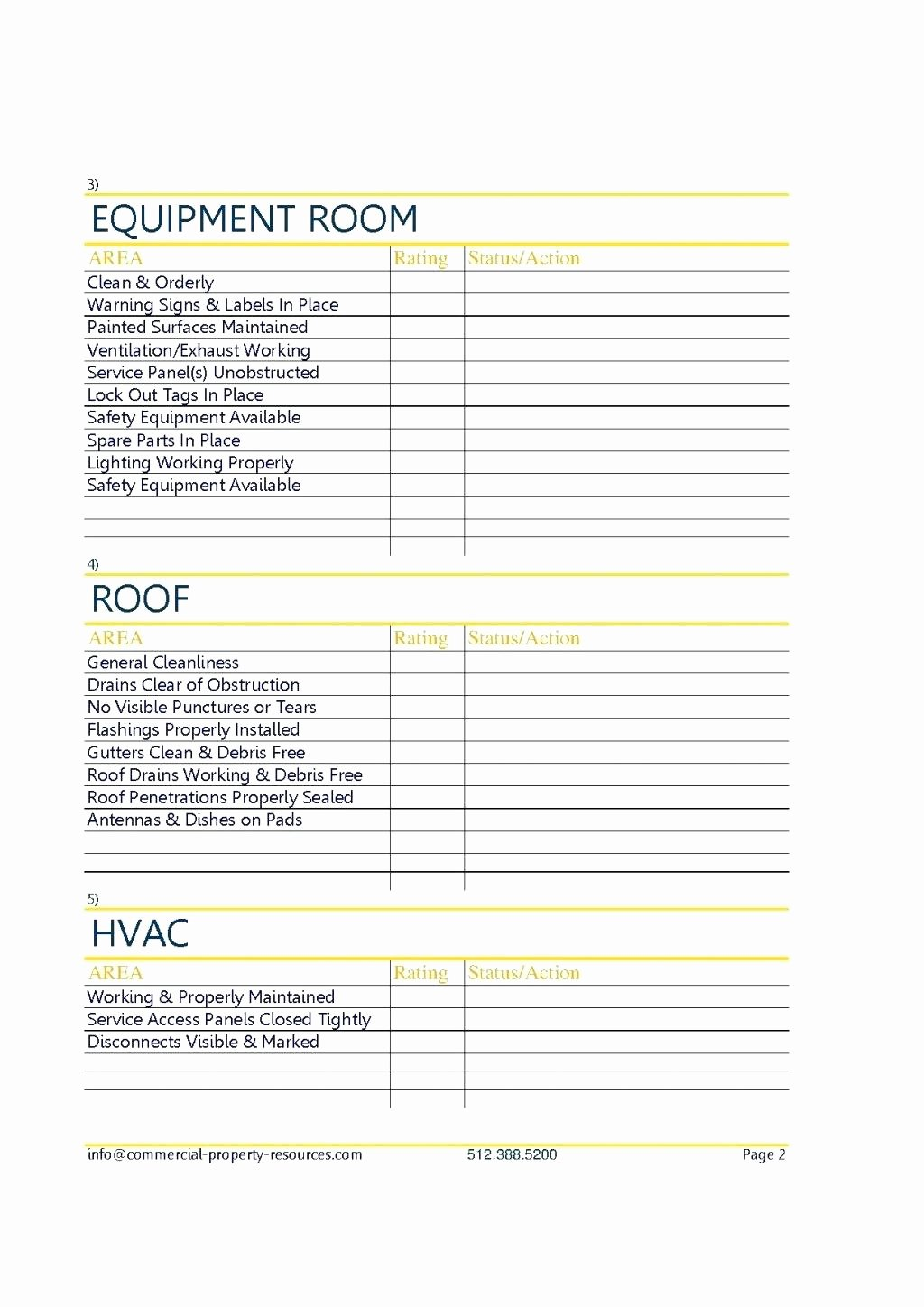 Commercial Property Inspection Checklist Template Elegant Property Inspection Checklist Template