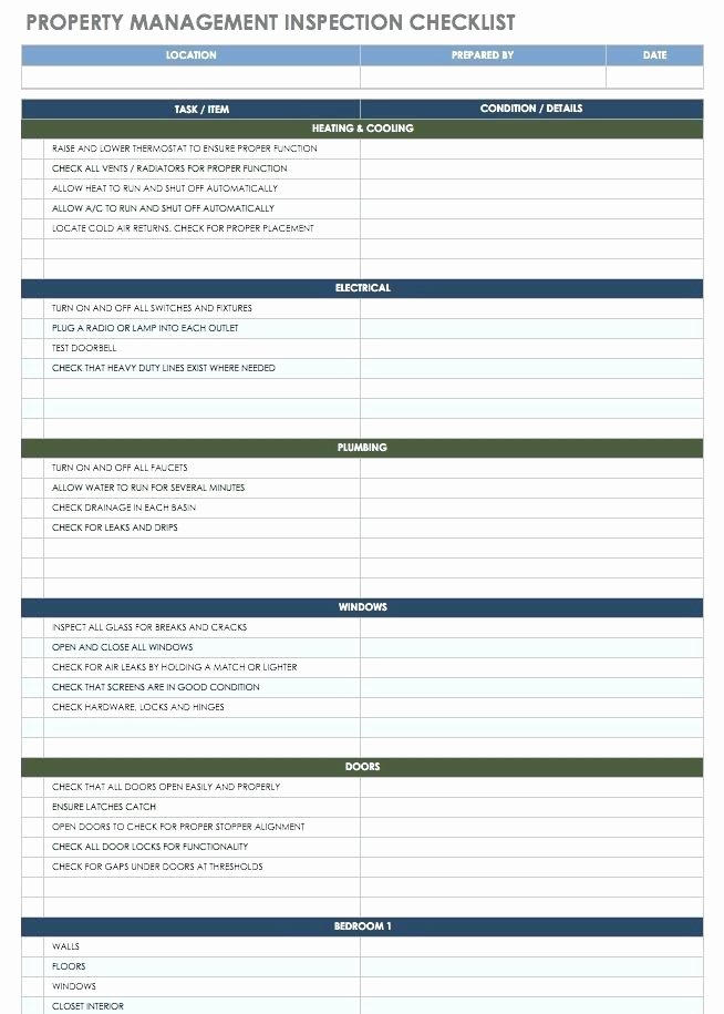 Commercial Property Inspection Checklist Template Luxury Property Management Inspection Checklist Template Free