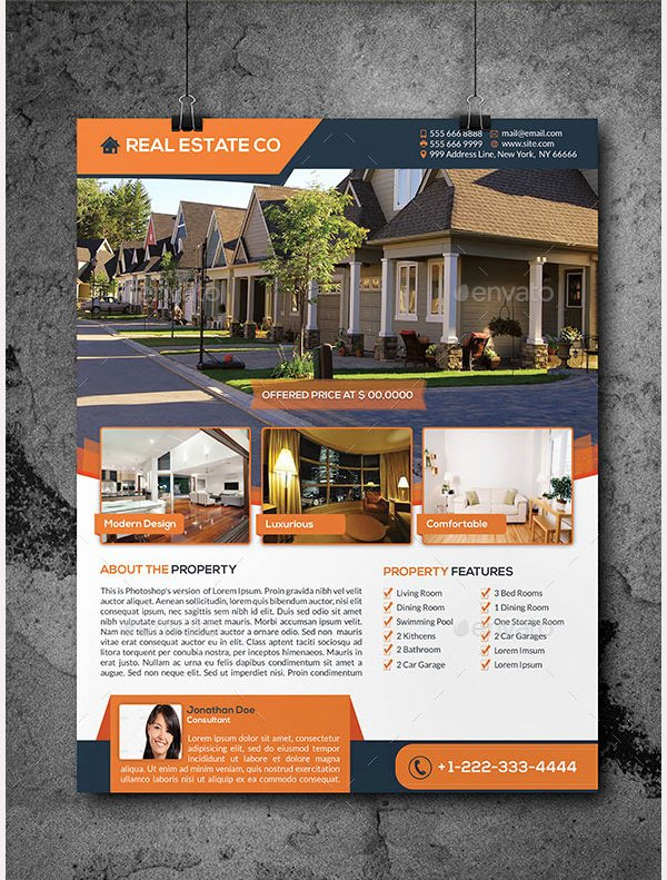 Commercial Real Estate Flyer Template Fresh 44 Psd Real Estate Marketing Flyer Templates