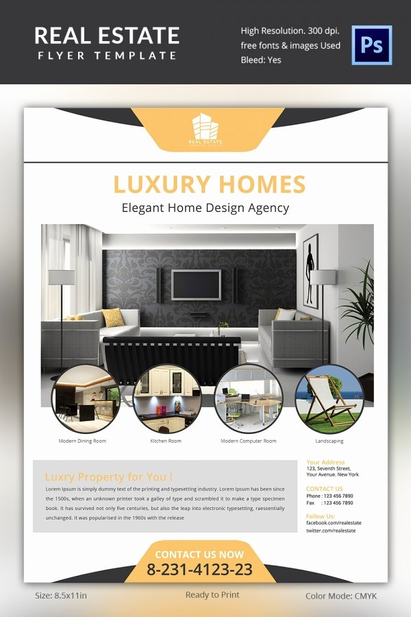 Commercial Real Estate Flyer Template Luxury Real Estate Flyer Template 35 Free Psd Ai Vector Eps