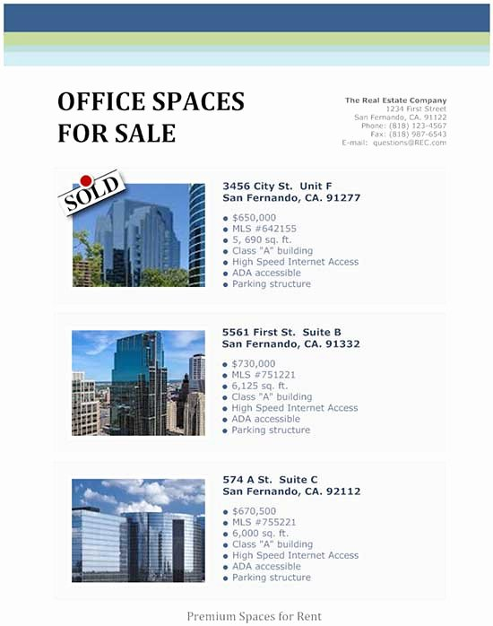 Commercial Real Estate Flyer Template New 8 Best Of Mercial Real Estate Flyer Templates