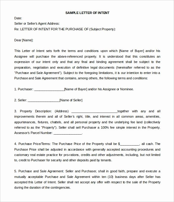 Commercial Real Estate Loi Template Beautiful 16 Free Letter Of Intent Templates Free Sample Example