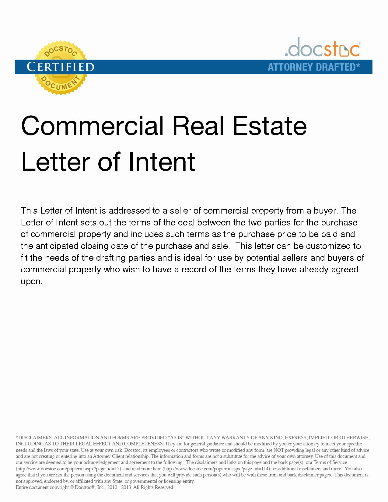 Commercial Real Estate Loi Template Best Of Mercial Real Estate Letter Intent Template Samples