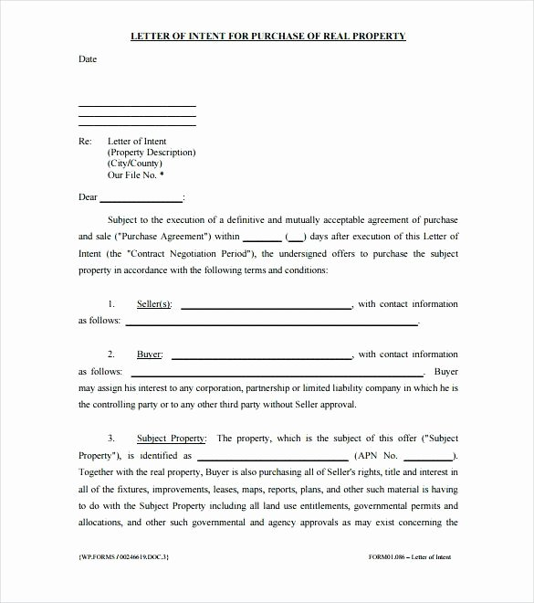 Commercial Real Estate Loi Template Fresh Intent to Lease Template Mercial Real Estate Letter