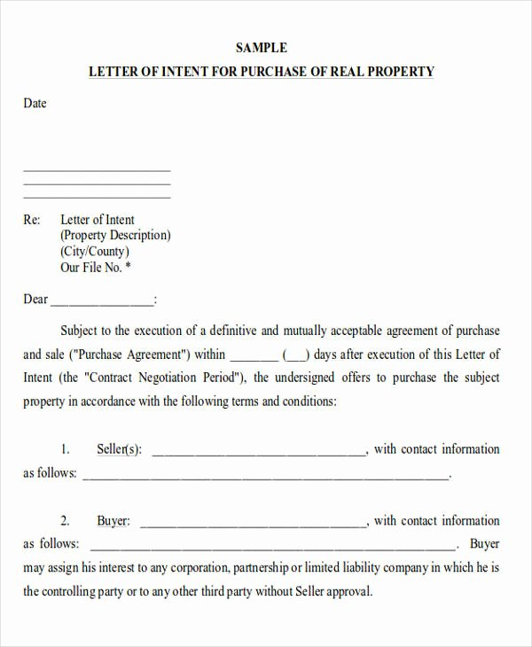 Commercial Real Estate Loi Template Lovely 60 Sample Letters Of Intent