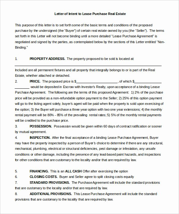 Commercial Real Estate Loi Template Luxury 13 Purchase Letter Intent Templates Doc Pdf