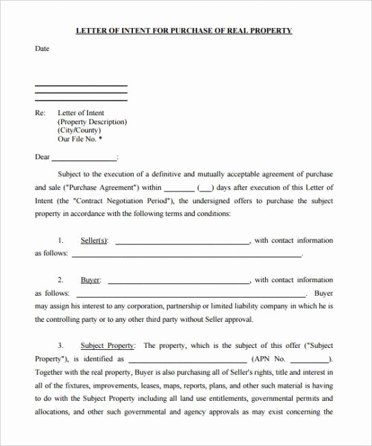 Commercial Real Estate Loi Template Luxury Mercial Real Estate Loi Template Letter Intent