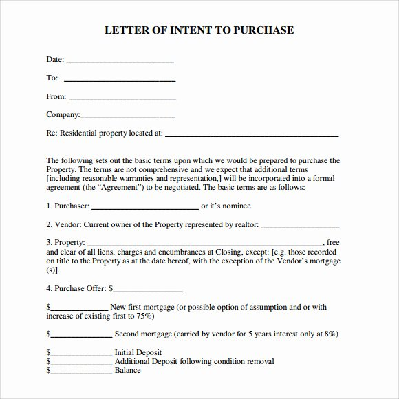 Commercial Real Estate Loi Template New Letter Of Intent Real Estate 9 Download Free Documents