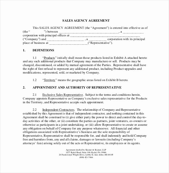 Commission Sales Agreement Template Free Beautiful 23 Mission Agreement Templates Word Pdf Pages